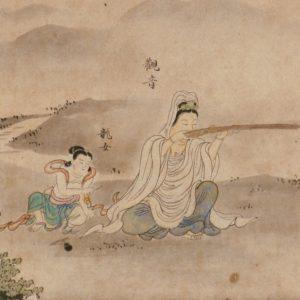 狩野昌運《異代同戯図巻》(部分)江戸時代 17世紀