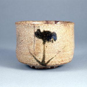 《絵唐津菖蒲文茶碗》(重要文化財)田中丸コレクション