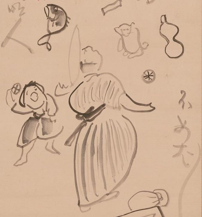 仙厓義梵筆≪すず玉名人図≫