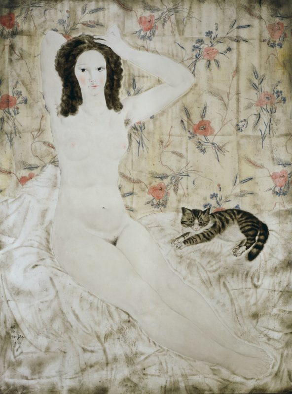 藤田嗣治《タピスリーの裸婦》 1923年 京都国立近代美術館蔵