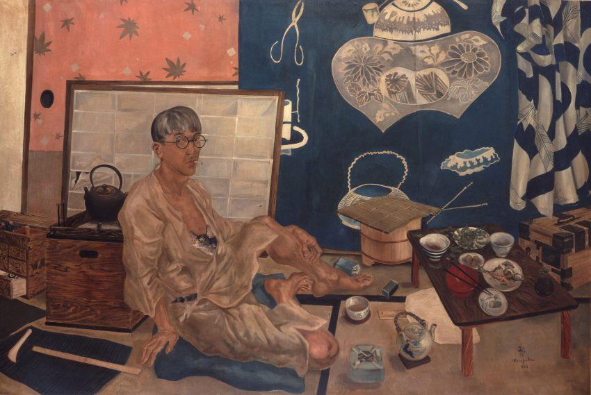 藤田嗣治《自画像》 1936年 平野政吉美術財団蔵