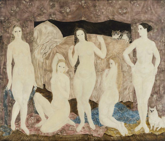 藤田嗣治《五人の裸婦》 1923年 東京国立近代美術館蔵