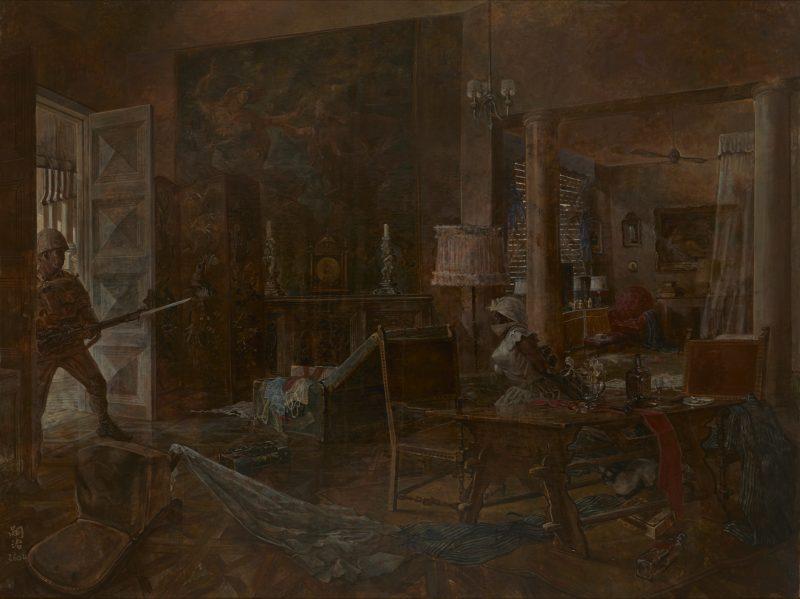 藤田嗣治《神兵の救出到る》 1944年 東京国立近代美術館蔵(無期限貸与作品)