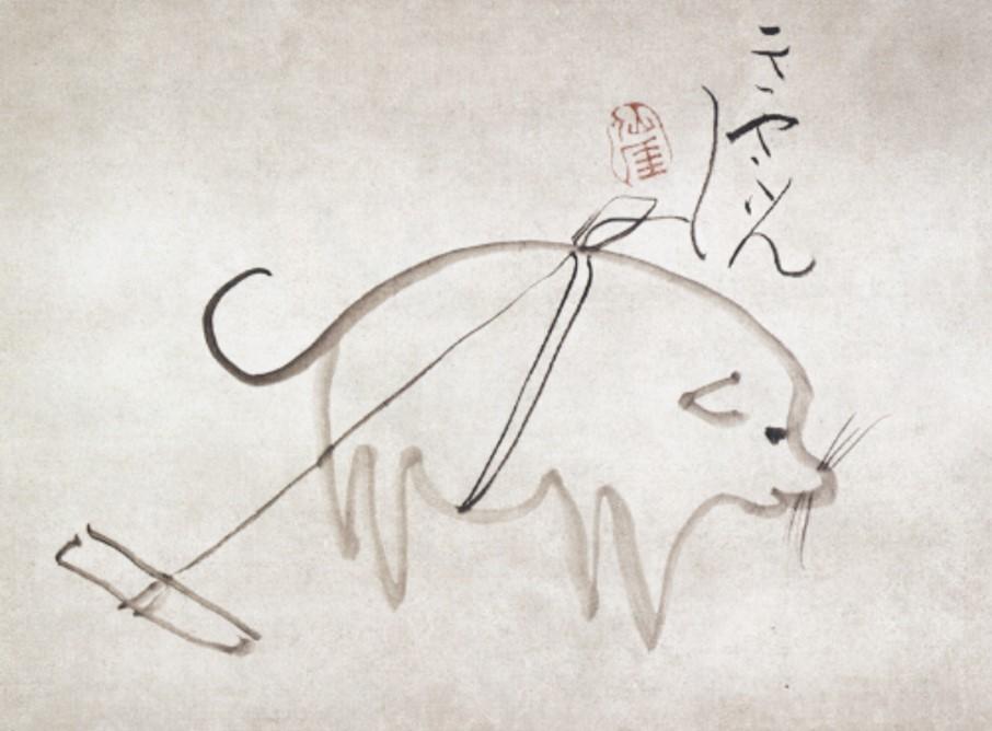 仙厓義梵《犬図》江戸時代  19世紀